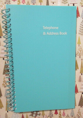 """Navy Blue Spiral Telephone & Address Book A - Z 8X5"""" Large Big Print - Easy Read"""