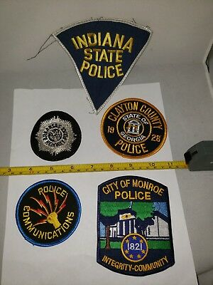 Lot#3A: 5-Police Patches(Nice Mixed Lot!!!)