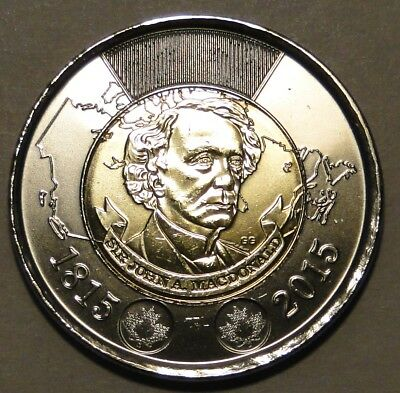 Canada 1815-2015 $2 dollar Sir John A MacDonald toonie coin nice circulated