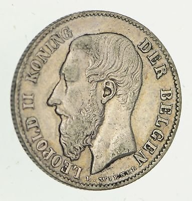 1886 Belgium 50 Centimes - Historic World Coin *369