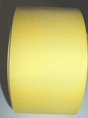 "Offray 50 Yd Roll Yellow Grosgrain Ribbon 3"" New Cheer Bows-Free Shipping"