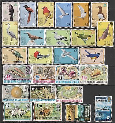 British Indian Ocean Territory Mint New Issues (hinged) CV $158