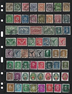 2 scans!   German stamps / Pre Third Reich /  99 All different stamps 1923-1932