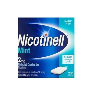 Nicotinell Medicated Chewing Gum 2mg Mint 204 Pieces - BRAND NEW - Stop Smoking