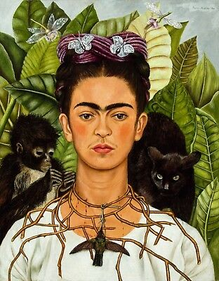 Frida Kahlo Mexican artist Large Art Framed Canvas painting  Home decor