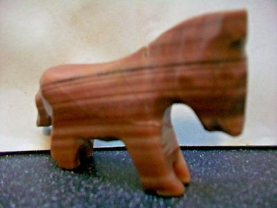 Rare Variegated Carved Stone Horse Pony Figurine Art Sculpture Animal Collectibl