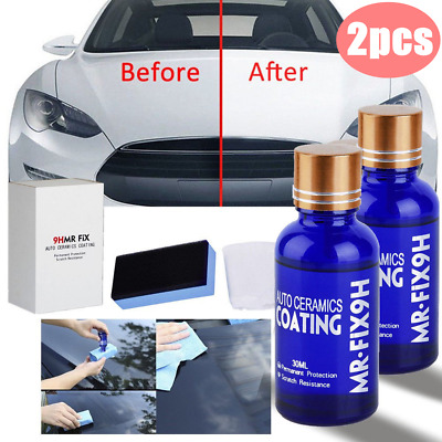 2pcs 9H MR FIX 9h Super Ceramic Car Coating Hydrophobic Glass Care Wax Crystal Q