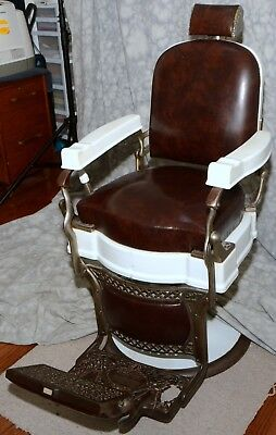 Koken all original classic antique barber's chair, approximately 100 years old