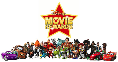 Disney Movie Rewards Choose 10 Codes From List Of Blu-Ray Titles 1500 Points