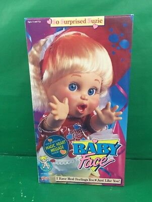 1990 Baby Face Doll SO SURPRISED SUZIE No. 3208 Galoob NOS Unopened Vintage
