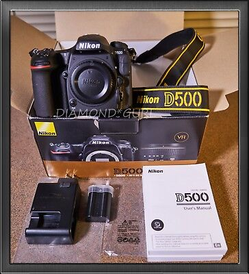 Nikon D D500 20.9MP Digital SLR Camera - Black Body Only Great Conditions!