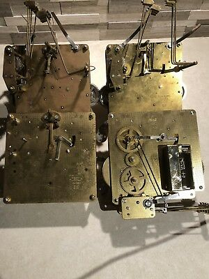 4 Hermle Clock Movements For Parts - Repair 351 451 357 Steampunk
