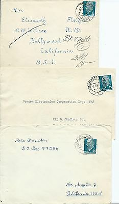 GERMANY DDR Sc#  585 COVER LOT OF THREE SEE SCAN