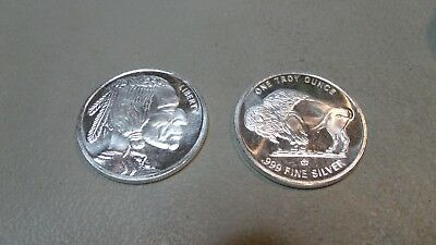 Roll Of 20 Silver  1 Troy Oz Rounds