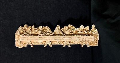 VINTAGE The Last Supper Resin Wall Plaque Wall Decor Wall Art Catholic
