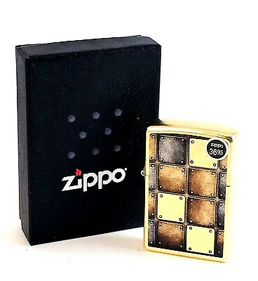 BRAND-NEW Zippo Gold Dust Street Finish Metal Squares Lighter In Box, # 28539