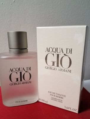 Acqua Di Gio 3.4 Oz Men Spray EDT Cologne Giorgio Armani New Free Shipping!