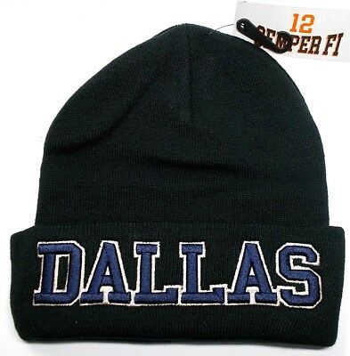 Dallas Cowboys Team Color 3D Direct Embroidered Beanie Knit Cap hat!