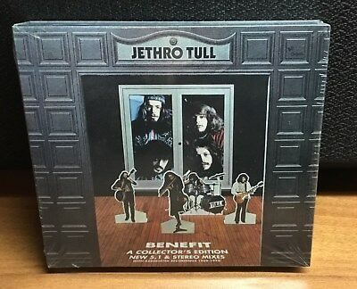 NEW Jethro Tull Benefit 2 CD 1 DVD Steven Wilson Collectors Edition Box Set