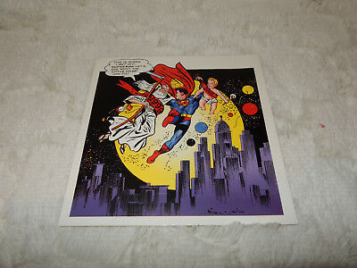 1999 Christmas Card from DC Comics Superman from 1945 cover #81 Kaye & Boring