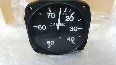 Kelly Instruments Ultralight Airspeed Indicator.  10-70 mph Part #219