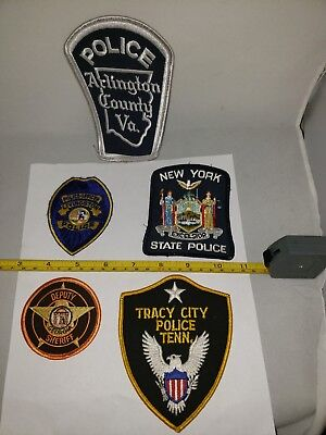 Lot#1B: 5-Collectible Police Patches(Nice Mixed Lot!!!)