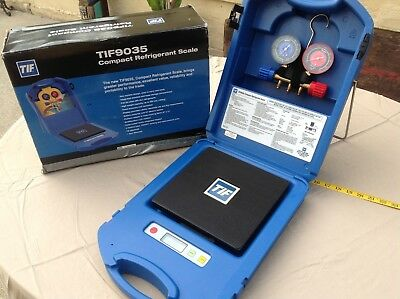 Nice TIF9035 TIF COMPACT REFRIGERANT SCALE in Case & Box with ROBINAIR MANIFOLD