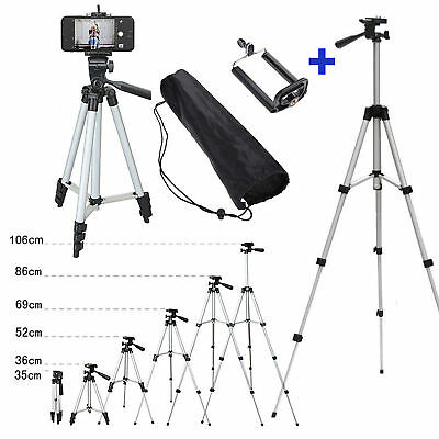 Portable Professional Adjustable Camera Tripod Stand Mount+Cell Phone Holder FR