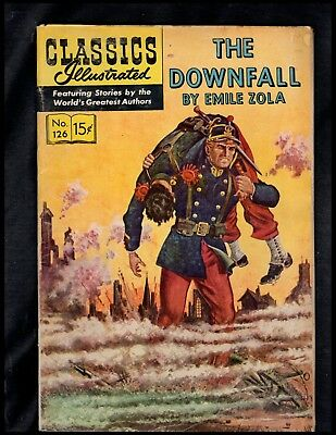 Classics Illustrated #126 Vg Hrn167  (The Downfall) Free Shipping On $15 Order!