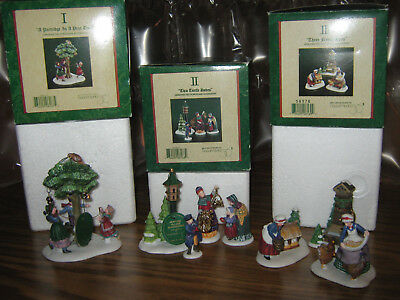 Dept 56 Dickens Village 12 days of Christmas 1-2-3-4-5 & 6