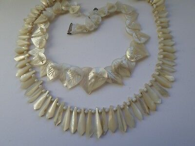 2 vintage mother of pearl necklaces BOTH NEED RESTRINGING