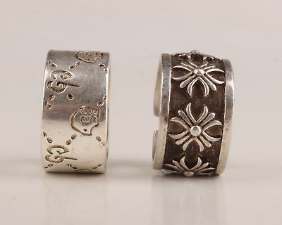2 Fashionable Chinese Tibet Silver Ring Tide Adornment Collects Old Collection
