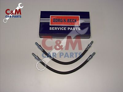 BORG /& BECK FRONT FLEXI BRAKE HOSE PAIR for FORD FIESTA MK 5  from 2002-2008