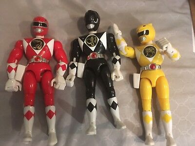 "RED+BLACK+YELLOW  8""  ( Mighty Morphin Power Rangers )  NON KICK  gOOD Condition"