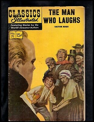 Classics Illustrated #71 G+  Hrn167 (The Man Who Laughs) Victor Hugo