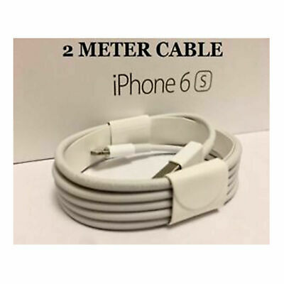 2m Genuine Apple Lightening Data Cable Charger for iPhone 7 7 Plus 6 6s Plus