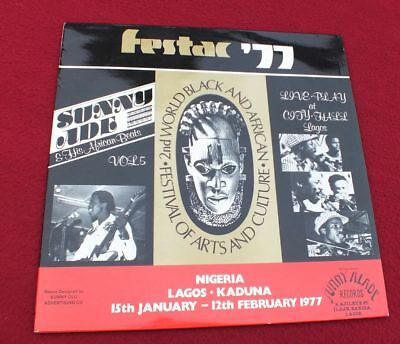 LP Sunny Ade & His African Beats ‎– Vol. 5 - Festac '77 *Live Play At City Hall