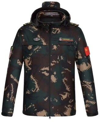 07's series China PLA Special Forces Digital Camo Winter Technical Jacket,B