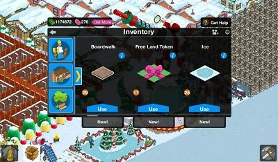 MEGA DEAL !!!Tapped Out Simpsons 2000 Land Tokens !!