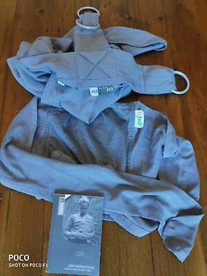 Close Caboo Lite baby carrier sling - grey stone VGC with instruction booklet