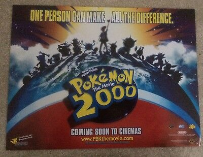 Pokemon: The Movie 2000 Small Quad Cinema Poster (genuine poster from 2000)