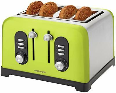 Cookworks Lime Green 4 Slice Toaster - Mail Order Return - Full Working Order