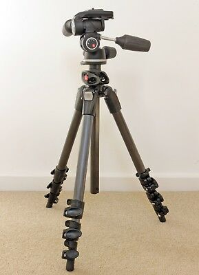 Manfrotto 190CXPRO4 tripod (boxed) with fluid drag upgraded 804RC2 head