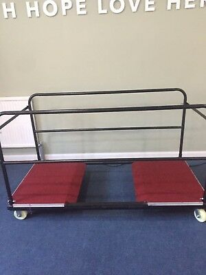 Trolley for Round Banqueting Trestle Tables. Heavy Duty