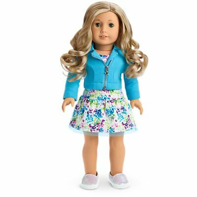 American Girl Truly Me Doll 78 Green Eyes, Curly Light Blond Hair New in box