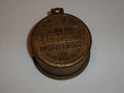 Vintage Neptune Meter Co. Trident Brass Meter Cover