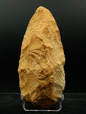 ANCIENT Quartzite HAND AXE - Acheulean Civilization - 17 cm LONG - Sahara