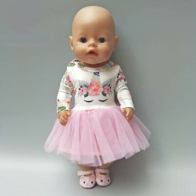 Baby Doll 43Cm Or 18 Inch Doll Unicorn Style Dress Doll Clothes