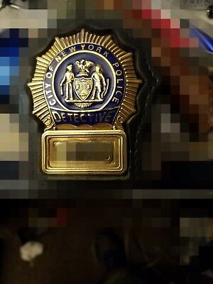 NEW YORK POLICE detective shield, 2001. most widely recognized badge on earth!