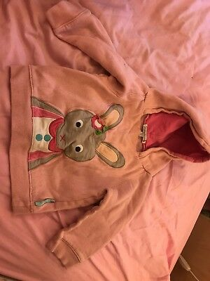 Olive & Moss Pink Hooded Girl's Jumper 2-3 Years Betty The Bunny